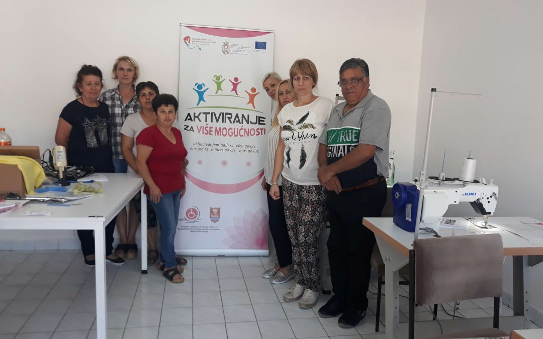 """Successful training for old crafts """"Services of handcraft courses – sewing"""""""